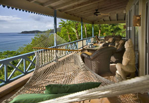 Sunset Watch villa hammock view - Virgin Gorda BVI